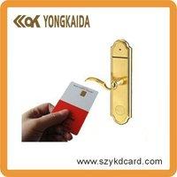 white pvc contact SLE5542 ic card as hotel key card