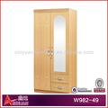 المنزل الأثاث الخشبي w982-49 2 الأبواب خزانة خزانة خزانة غرفة النوم الخشبية تصميم الصور