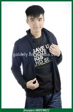 Preto liso tricot velo hoodies esportes / camisola / jacket