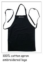 100% cotton embroidered logo apron