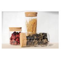 glass jars plastic seal lids for keep food dry/hermetic glass jar