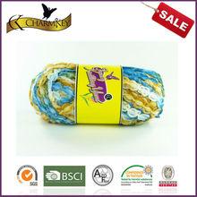 Fashion china craft crochet space best quality dyed DIY fancy charm scarf yarn
