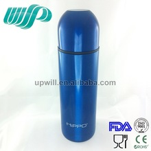 Wholesale Hippo Transparent Blue SS304 380ML Thermos Hot Water Flask