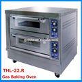 중국 공급 업체 베이커리 장비 2 데크 2 트레이 바닥 형 가스 오븐