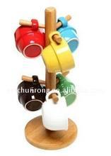 Bamboo/WOOD Mug Tree/cup holder/rack
