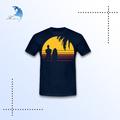 Oem em torno do pescoço camisetas personalizadas design de vestuário fábrica de tela de impressão homem/mulher t thirt