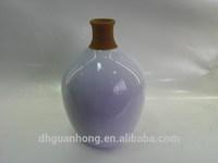 purple oval ceramic home decor vase