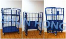 Laundry Cargo used Metal Wire Mesh Container Roll Cage