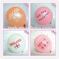 round logo printing balloons