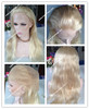 Stock 20 inches #60 hot sale high quality chinese virgin white blond wigs