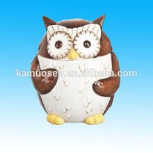 Ceramic Owl Candy Jar Porcelain Candy Jar