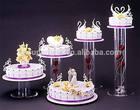 Pop acrylic cake display stand