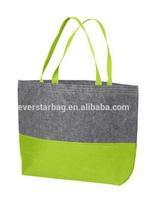 Fashion Felt Tote Bag Two Tone Tote Shopping Bag