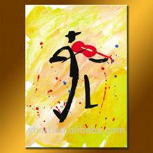 Modern Handmade Abstract Oil Painting, Abstract Original Music Wall Art