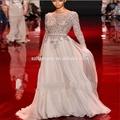 2014 elie saab vestido de chiffon de seda pura costura manual de mulher vestido de noite custome- ordem estilo princesa vestido de noite