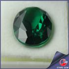 Green CZ Gemstone Lab Created Oval Emerald