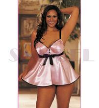 z7023-2 hight quality plus size satin slip cheap sexy mature lingerie ladies