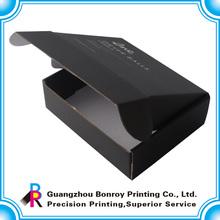 Cheap custom matt black paper packaging corrugated box for mailing