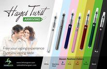 2014 new electric cigarette Hangsen(HAYES TWIST) adjustable hookah pen battery vaporizer, various vaping experience