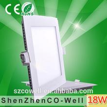 color temperature adjustable frameless dc12v ac85-265v square silver frame led light panel zhongtian
