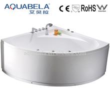High quality corner skirted whirlpool spa bath tub for one person JL802