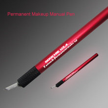 Permanent Manual Tattoo Pen for Eyebrow Emboridery with Blade