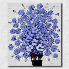 Simple purple flowers art for bedroom decoation