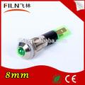 Mini de color verde 24 v anillo LED 8 mm instalar agujero de metal material de señal batuta