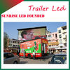 led electronic billboard screen high power led projector p10 led display truck