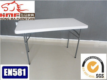 4ft white outdoor furniture of the foldin plastic table made in China