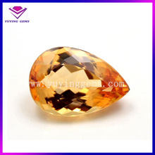 Pear Shape Synthetic Yellow Topaz Stone Wholesale