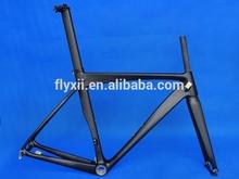 FLX-FR-319 : UD Carbon Matt Cycling Road Bike Frame Fork Seatpost Clamp 50cm 52cm 54cm 56cm 58cm