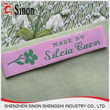 custom woven fabric fashion address labels