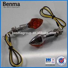 High Performance E-marked Mini LED Turn Signal Light ,Chrome Motorcycle LED Turn Signal Lights