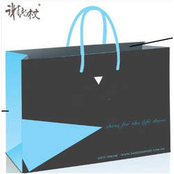 2014 HOT SALE Chinese style colorful paper shopping bag with ribbon knots private logo