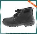 negromedio corte en relieve de cuero suela de caucho superior zapatos de seguridad para revendedores