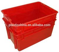 red plastic crates
