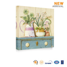 Decorative wall hanging flower pot painting designs picture