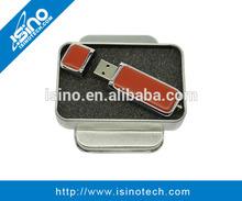 Leather USB Flash Drive, OEM Flash Disk, Promotional Flash Stick