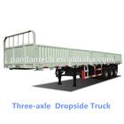 Hot sale 3 Axle Side Wall Semi Trailer/Good transportation/Machine/Dropside semi trailer