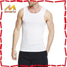 cheap price fashion 100 cotton blank t-shirts sleeveless men