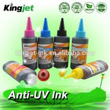 premium quality 100ml 6 colors anti uv dye ink for l800