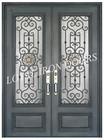 metal double insulated entrance doors with sliding door lock