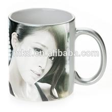 MEIKEDA 11oz Silver Shinny finish sublimation mug wrap
