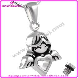 IJD8214 Angel Wings Shape Lucky Designs for Girls keepsake cremation urn jewelry
