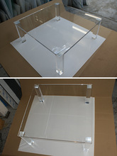 2014 high quality free logo acrylic coffee table
