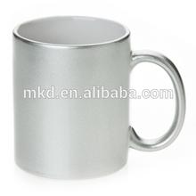 MEIKEDA 11oz Silver Shinny finish blank sublimation mug wrap