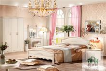 SHX White Wood Kids Bedroom Set HA-829# 1.2m Children Bedroom Set Made In China