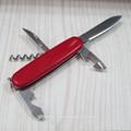 Rouge couteau suisse par étiquetage précis artisanal.- stock en acier damas couteau flans cadeau promotionnel