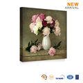 decorativos para el hogar colgando de la pared pintura al óleo de flores en florero